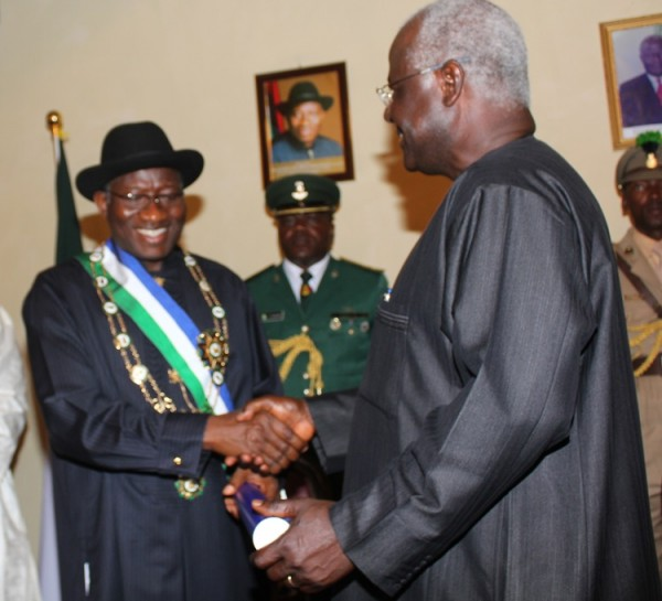 PRESIDENT KOROMA AND GOODLUCK JONATHAN