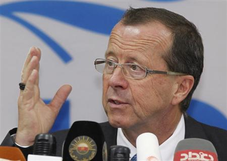 Special Representative of the Secretary-General (SRSG) for Iraq Kobler speaks at a news conference in Baghdad