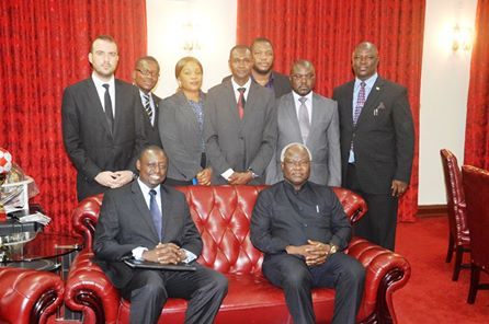 BAR ASSOCIATION VISITS PRESIDENT