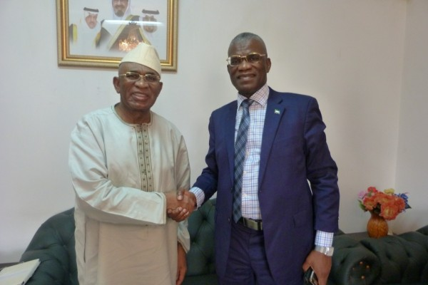 AMBASSADOR KARBO AND GAMBIA ENVOY
