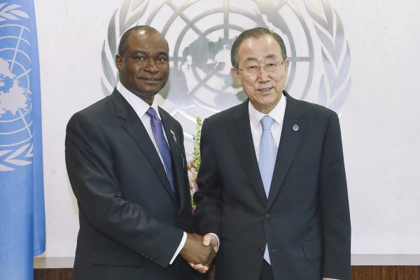 The Secretary-General with H.E. Mr. Samura M.W. Kamara, Foreign Minister, Sierra Leone