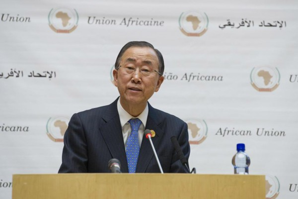 BAN KI MOON ADDRESSES AU