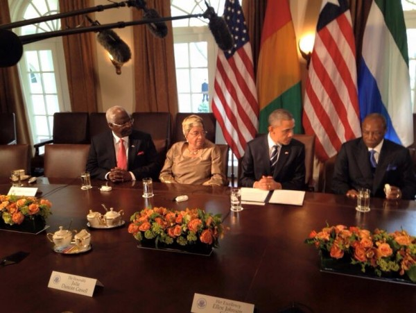 THREE AFRICAN LEADERS MEET OBAMA