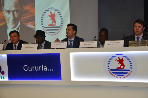 Amb. Fofana (2nd from left) in the midst of some pannelists