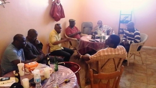 Members of APC New York Chapter executives meet with Government of Sierra Leone Spokesperson, Mr_ Abdulai Bayraytay in Bronx Borough, New York