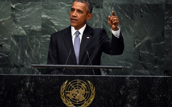OBAMA ADDRESSING UN