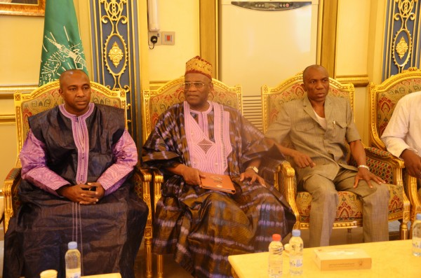 Amb. Kargbo (flanked by his staff) receives warm welcome in Madina