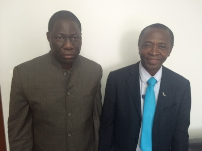 Dr. Adisa (L) and Mr. Conteh