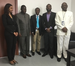 Mr. Conteh (M) sorrounded by staff memebrs of the African Unoin Commission