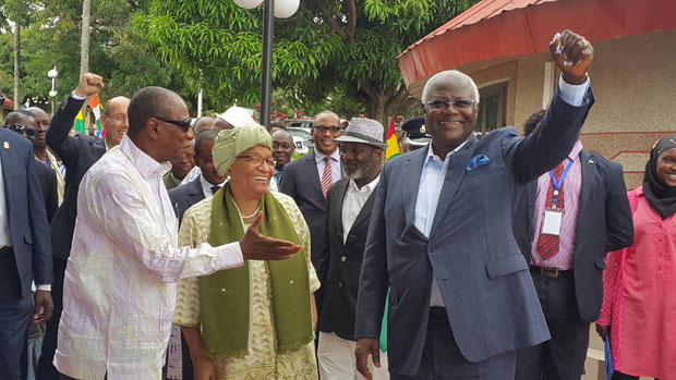 PRESIDENTS KOROMA, CONDE AND SIRLEAF