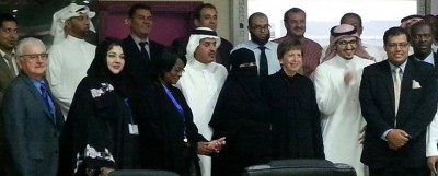 School Staff with distinguished guests