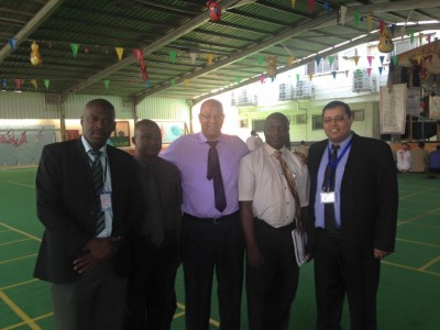 Three S. Leonean teachers with School Management Officials