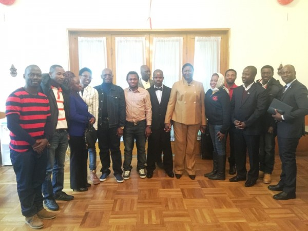Envoy Momoh,Embassy staff and new executive