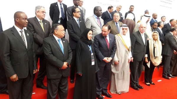 1st from left, Dr. Samura in the midst of world leaders in Indonesia