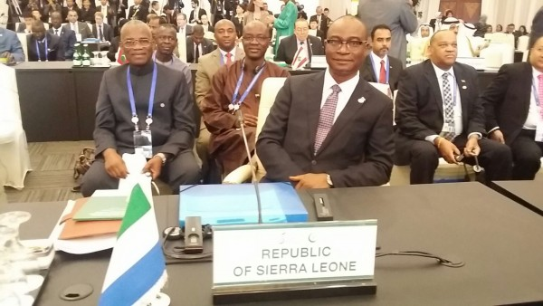 Dr. Samura Kamara Kamara and delgation at the OIC Summit in Jakarta