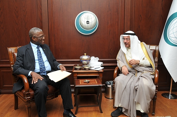 OIC Sec. Gen. (right) receives Ambassador Kargbo