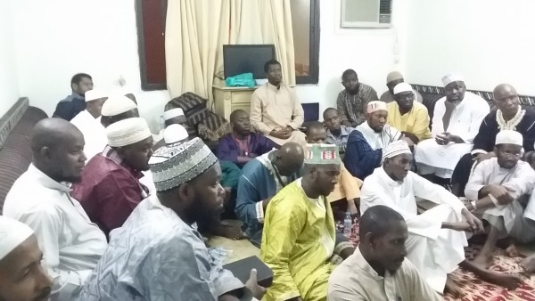 Students Listening to Amb. Kargbo in Madina