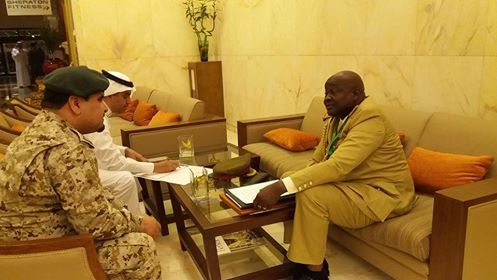 Lt. Gen Milton (right) in a security meeting with a Saudi General