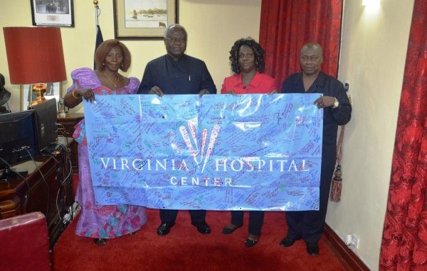 Health Adviser Presents Medical Supplies and Equipment to Hospitals